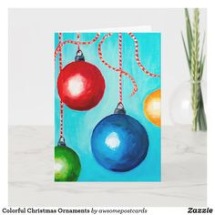 Watercolor Christmas Cards, Christmas Tree Painting, Painted Christmas Ornaments, Christmas Drawing, Christmas Art Projects, Holiday Crafts, Christmas Ideas, Christmas Doodles, Homemade Christmas Gifts