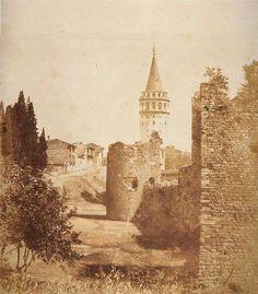 Galata Surları ve Galata Kulesi (1860-70) Galata Surları şehirleşmeye kurban edildi. #beyoglu #istanbul
