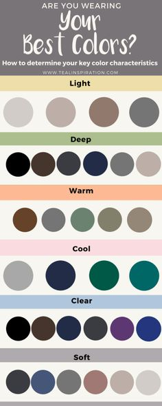 Are You Wearing Your Best Colors? Key neutrals for Deep coloration Soft Autumn Color Palette, Colour Pallete, Light Spring, Soft Summer, How To Wear Hijab, Winter Typ, Seasonal Color Analysis, Deep Winter, Clear Winter