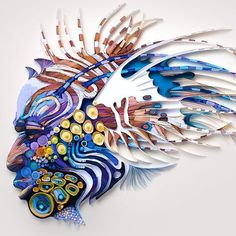 Click for more pics! Top 20 Amazing Examples of Quilling - Yulia Brodskaya Quilled Paper Art #paperart #quilling