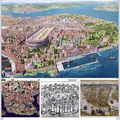 Byzantine Empire: Constantinople was the capitol city of the Byzantine Empire. It was one of the largest and wealthiest cities and advanced Christianity. Byzantine Architecture, Historical Architecture, Ancient Architecture, Ancient Rome, Ancient History, Conservation Architecture, Istanbul, Medieval, Byzantine Art