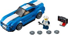 Know a car-keen LEGO® fan? Buy LEGO® Speed Champions to race with LEGO versions of car favourites – including Porsche, Ferrari and Audi Mclaren Mercedes, Ferrari, Porsche, American Dream Cars, All American Boy, Ford Mustangs, Legos, Ford Mustang Boss, Lego Speed Champions