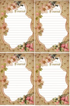 Dogwood Flowers-N-Ribbon Journal Cards and I.C.E. Forms