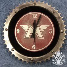 Custom Man Cave Wall Clock Etched Aluminum by TWTMotorcycleParts