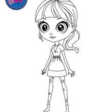 Beautiful BLYTHE free printing page to color - Coloring page - GIRL coloring pages - LITTLEST PET SHOP coloring pages