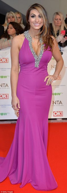 Award for worst dressed goes to: Georgie Porter and Lydia Bright – fashion fail Georgie Porter, National Tv Awards, Fashion Fail, Red Carpet Fashion, Plunging Neckline, Bold Colors, Hemline, Bridal Gowns, Glamour