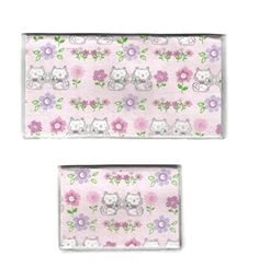 Tickled Pink Boutique Women's Kitty Cat Flowers Checkbook Cover Debit Set Purple -- More info @
