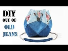 SO AMAZING DIY BAG IDEA!! ~ 2020 Jeans Bag Tutorial from Old Jeans - YouTube Diy Crafts Tv, Denim Crafts, Diy Bags Jeans, Blue Jean Purses, Back Bag, Ideias Diy, Patchwork Bags, Denim Bag, Sewing Tutorials