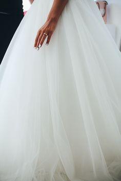 White Wedding Dress Greta Sagona Wedding Ring