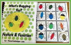 """What's Bugging You? Feature & Function Edition"" works on repetitive reading, vocabulary, & identification of features and function in an interactive way. These books are crowd favorites & my kids can't get enough! From theautismhelper.com"