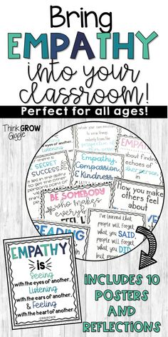 Teach your students to have empathy in the classroom! Bring empathy lessons and kindness into your classroom with these empathy quotes and reflection activities. These positive messages are perfect to display in your classroom and on a bulletin board. Click to see everything included!