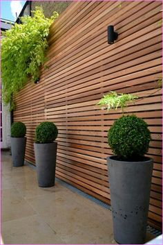 Horizontal Slat Fence