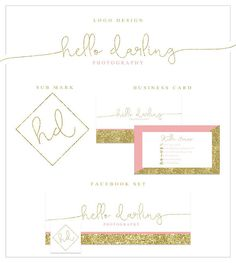 Blush Pink and Gold Glitter Brand Package