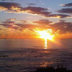 Sunset from Bantry Bay, Cape Town, South Afrca