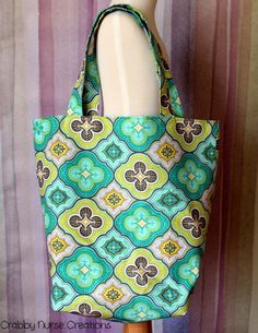 Floral themed Reusable Grocery Bag by CrabbyNurseCreations on Etsy