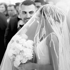 That look🖤  Will your veil cover your face? I'd love to know! Comment 👍🏽 for yes and 👎🏽 for no...and 🤜🏽 for not sure yet😂   📸 @arianaphotographystudio Wedding Bells, Wedding Ceremony, Wedding Gowns, Reception, Steven Khalil, The Way He Looks, Bridezilla, Wedding Photography Inspiration, Veil