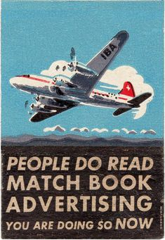 Vintage matchbook cover art. Great for creating matchbook notepads. {from justsomethingimade.com}