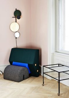 Os & Oos Keystone chair + Planet Lamp by Mette Schelde | sightunseen.com