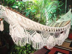 ¥7,407 Beige Single Boho Style Hammock hand-woven Natural Cotton