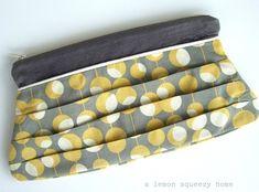 8. Pleated Clutch - 10 Pretty Clutch Bags to Make ... | All Women Stalk