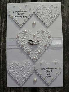 Wedding Card Cute love card heart Heart embossed card