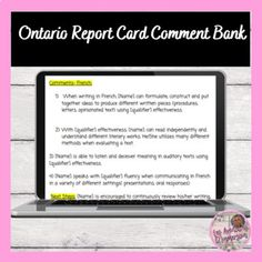 Ontario Curriculum, Report Card Comments, Report Cards, Learn Art, Skills To Learn, French Language, Teacher Pay Teachers, Social Studies, Texts