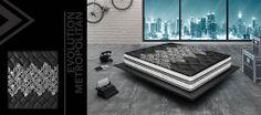 Evolution Metropolitan è l'innovativo materasso ABSOLUTE con una struttura a 3000 molle indipendenti la quale viene abbinata ad un top con due alternative diverse di Memory Foam: - Top in Memory Clima: per un materasso comodo e termoregolatore. - Top in Memory Foam: per un materasso che si modella perfettamente alle curve del corpo.  http://www.materassicagliari.it/
