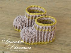 Organic cotton Baby Booties Crochet Ribbed by LavenderBlossoms, $18.00