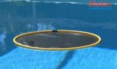 Green DIY: Using the sun and hula hoops to naturally heat your pool (video)