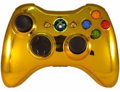 Xbox360 Controller Gold Chrome