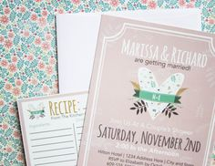 Rustic Whimsy Theme | Bridal Shower Invitation | Perfect for a country wedding | Rustic Bridal Shower