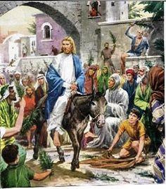 Palm Sunday - Entry into Jerusalem.
