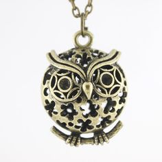 This store has the cutest jewelry for cheap! Vintage Retro Goldtone Cute OWL Pendant by JuliesJewelryStore, $1.99