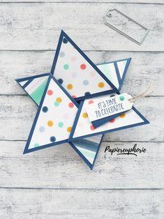 Fancy Folds Starfold Card Sternkarte  #stampinup #stampinupdemonstrator #goodies #goodieboxes #einfachso #crafting #diygifts #astridspapiereuphorie #starfoldcard #sternkarte #stampinupösterreich #handcrafted  #stampinupdemo #lovemyjob  #stampinupwien #kreativmitpapier #diy  #paperlove #bastelnmachtspass #creative 3d Paper Crafts, Stampinup, Fancy, Time To Celebrate, Triangle, Scrap, Creative, Blog, Instagram