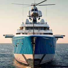 Super Yacht Feadship's custom 324 ft Madame GU one of the largest yachts ever built in the Netherlands @feadship