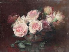Julien Stappers (1875-1960) - Still life with roses