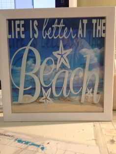 Life is better at the beach shadow box by LittleMiracles3 on Etsy