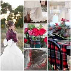 Lake Tahoe Wedding Inspiration - full tulle skirt - paired with a tartan plaid shirt. Thoughts?