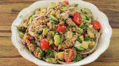 Healthy Avocado and Tuna Salad Recipe - YouTube Easy Greek Salad Recipe, Easy Pasta Salad Recipe, Greek Salad Recipes, Summer Salad Recipes, Healthy Sandwich Recipes, Tuna Recipes, Healthy Food, Healthy Eating, Traditional Greek Salad