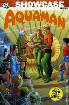 Showcase Presents Aquaman TPB (2007-2009 DC) 2-1ST  DC Comics Book cover art super heroes villians