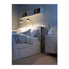 BRIMNES Kepala tempat tidur dg penyimpanan - 150 cm - IKEA