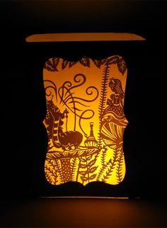 Handmade Paper Luminary - Alice in Wonderland , via Etsy.