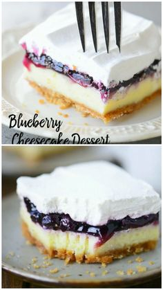 Blueberry Cheesecake Dessert - - Blueberry Cheesecake Dessert Best Cheesecake Recipes This Blueberry Cheesecake Dessert recipe is my husband's childhood favorite with a light, moist cheesecake topped with blueberry pie filling and whipped cream. Best Cheesecake, Cheesecake Desserts, Blueberry Desserts, Blueberry Loaf, Blueberry Pie Fillings, Blueberry Cheesecake Topping, Desserts With Blueberries, Blueberry Cream Cheese Pie, Light Cheesecake