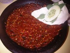 indonesian chilli sauce -- sambal