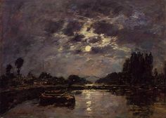 The Effect of the Moon - Eugene Boudin