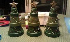 Flower pot Christmas trees | Outside Decorating | Pinterest