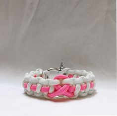 Pink ribbon awareness bracelet ~ $15. Free shipping by Grey Llama