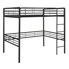 Open up space in any room with this Metal Full size Loft Bed and please everyone with its contemporary metal design that matches any bedroom decor. Decorate the