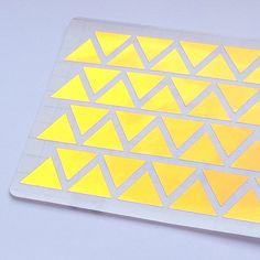 44 Stickers métalliques Triangle d