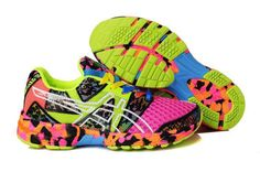 colorfull sneakers | ... Asics 8th VIII Eighth Classic Women Colorful Pink Green Running Shoes